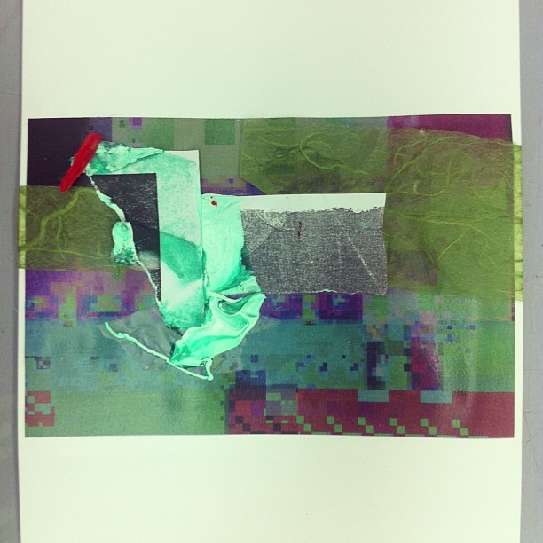 Collaging the glitch #collage #glitchart