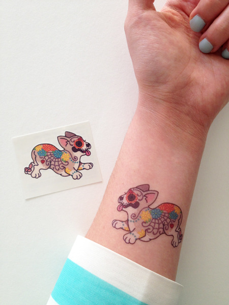 Yay! My new temporary tattoos are now available to purchase through Etsy. Check them out, you won't be disappointed!