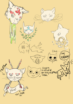 tattoo ideas - cats with some herpderp doodles lol