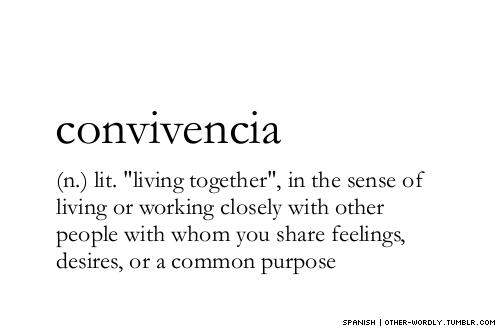 "other-wordly:  pronunciation | ""con-vi-'ven-sE-a"
