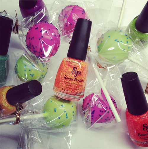 Cake pops + nail polish = Teen Vogue essentials.   Photographed by Eden Univer.