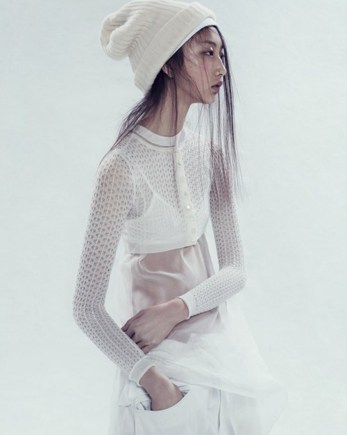 bodyfluids:  Yue Ning for i-D Summer 2013, photographed by Paola Kudacki
