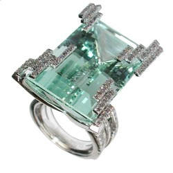 hautetramp:  Iceberg ring featuring a 46.72-carat green beryl by Mathon via CIJ International