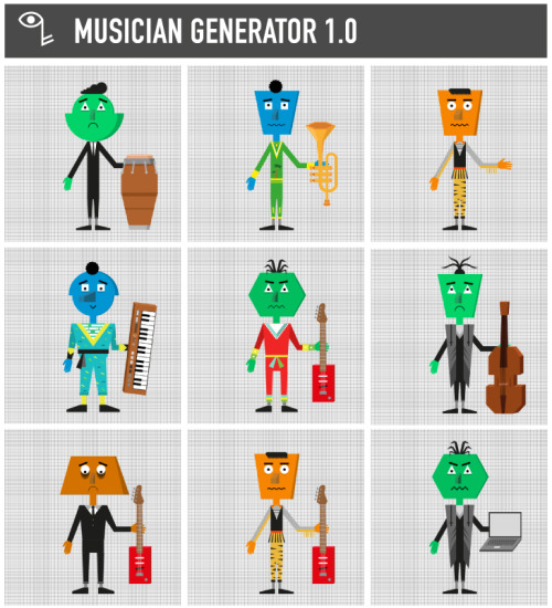 www.musician-generator.com Musician generator is a festive online software to create your own musician