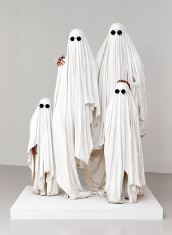 eldestandonly:  Ghost party. delicatematter:  Théo MercierLa famille invisible (2012)resin