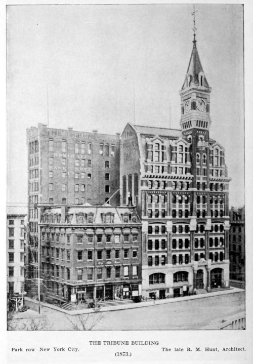 archimaps:  Hunt's Tribune Building, New York City