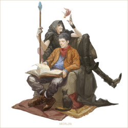 secretforkeeps:  I'm sorry, I can't hear you over MEDIEVAL!JETHRO AND MERLIN OMFGGGGG. This artist wins all the awards.