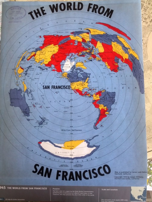 map from Prelinger Library installation at the Exploratorium