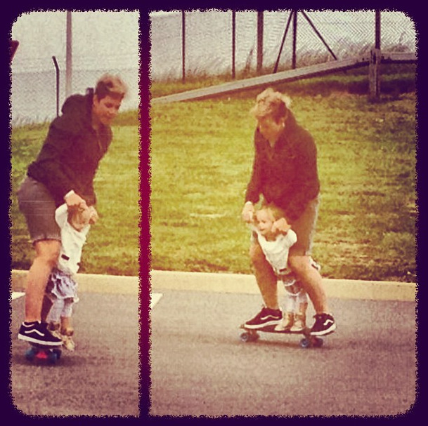 A little skating action with my 2 year old :-) #vansofthewall - via @cherylmaas