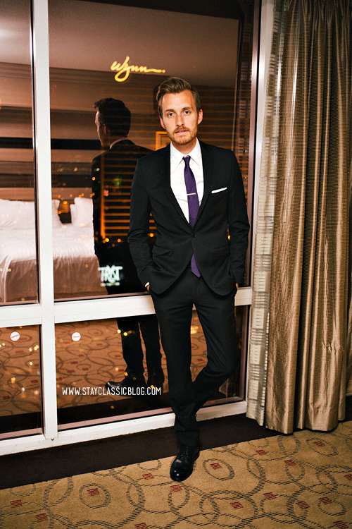 April 29, 2013. Suit: Ben Sherman Camden Wool Suit - $380 (40% off!) (similar)Shirt: Slim Wrinkle-Free Point-Collar - J. Crew Factory - $29Shoes: Stafford Ashton - JCPenney - $60 (similar)Tie: Factory Pindot Tie - J. Crew - $22Tie Bar: The Tie Bar - $15Pocket Square - The Tie Bar - $8