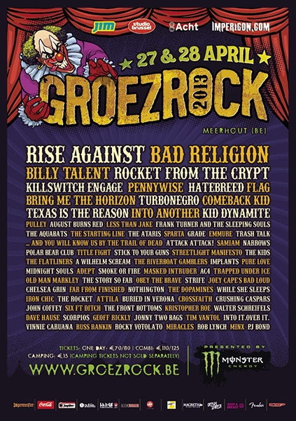 Groezrock 2013 is looking epic.