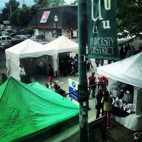 #udistrict #streetfair , view from my window. Great people watching!!!