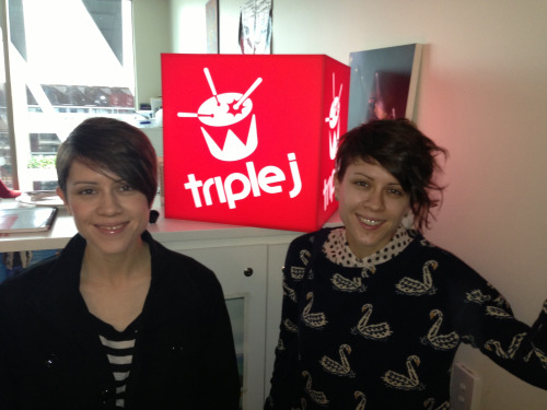 Tegan and Sara dropped by and spoke to us about creepy twins and New Kids On The Block.