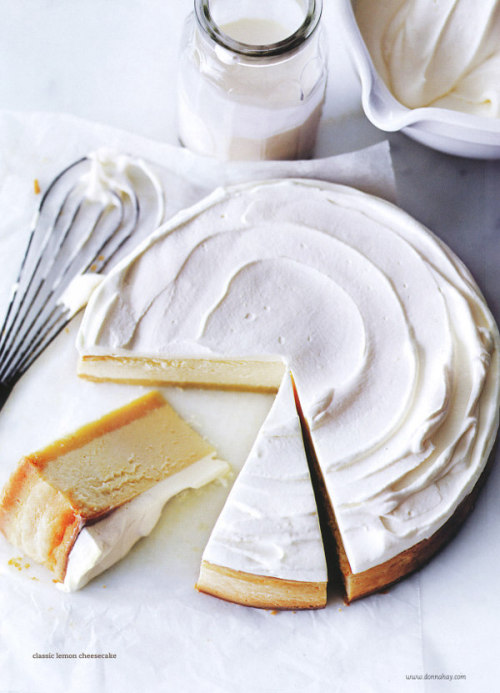 losdramas:  classic lemon cheesecake | donna hay