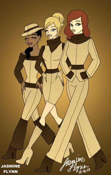 Beige and Brown Trio. a digital drawing by me, Jasmine Flynn :)
