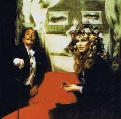 Pss Marie Gabriella of Italy with Salvador Dali. 1970s.
