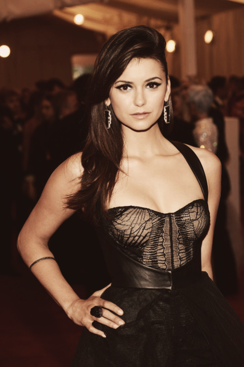 Nina Dobrev at the Met Ball
