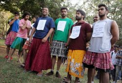 questionall:  These rape protesters in India might be our new favorite people. They're reacting to widespread comments about skirts being the cause of rape, seriously. Let's get something straight, the only thing responsible for rape is a rapist, if you're blaming a woman's clothes for her rape you're clueless.