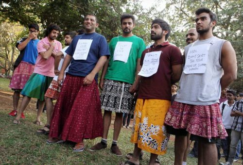 "mumblingsage:  shwetanarayan:  questionall:  These rape protesters in India might be our new favorite people. They're reacting to widespread comments about skirts being the cause of rape, seriously. Let's get something straight, the only thing responsible for rape is a rapist, if you're blaming a woman's clothes for her rape you're clueless.  I also love that the one sign I can read says ""Don't skirt the issue"".  The rape protesters in India in general are fast becoming my favorite people."