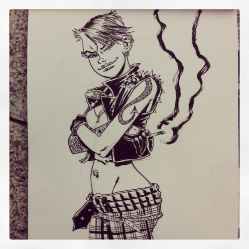 PUNK GIRL commission done at London Super Comic Con…. XXX Rufus…