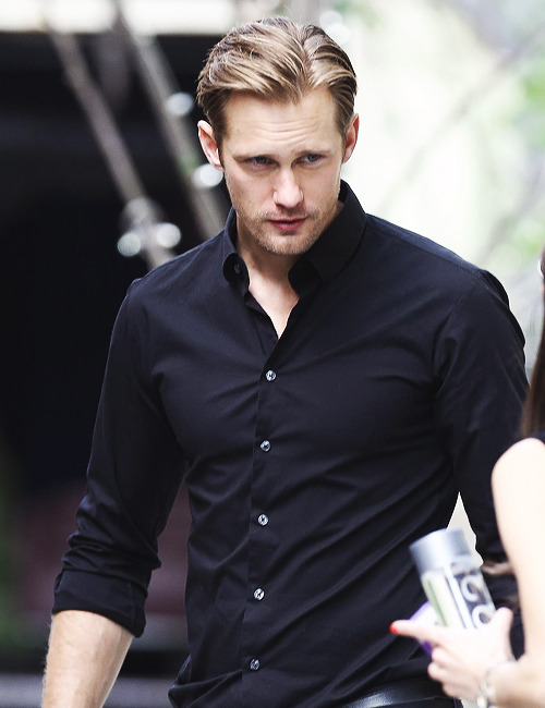 Alexander Skarsgård | Leaving his hotel before 'The East' NY Screening [May 20,2013]