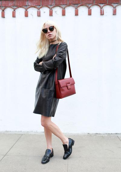 #alwaysjudging, #courtney_trop, #therealreal_dress, #chanel_bag, #california, #leather_dress, #black_dress, #fashion, #street_style, #street_fashion, #los_angeles