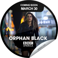 I just unlocked the Orphan Black Coming Soon sticker on GetGlue                      3178 others have also unlocked the Orphan Black Coming Soon sticker on GetGlue.com                  You're counting down to the premiere of BBC America's new original series ORPHAN BLACK on Saturday March 30, presented by Supernatural Saturday and immediately following the new season of DOCTOR WHO. Sarah hopes that cleaning out a dead woman's bank account will solve all of her problems. Instead, her problems multiply - and so does she… Share this one proudly, it's from our friends at BBC America.