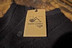 "Something special, coming in FW13.  Lee, Established 1889 Saint James, Established 1889  ""Like H.D. Lee Mercantile Co. the proud french knitwear located in lower Normandy near the famous Mont St. Michel, Saint James was also founded in 1889. Saint James is well known for their knitted pure new wool Breton seaman's sweater, originally intended for deep sea fishermen and sailors."" Denimhunters"