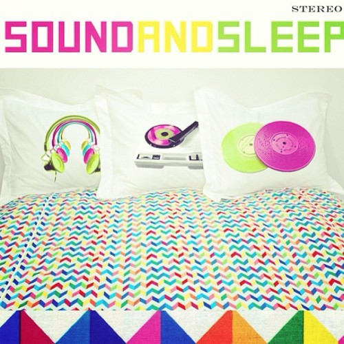 "Don't go to sleep without this! Coming soon ""Sound and Sleep!"" Collection! #wakeupfrankie #fashion #chevron #retro #frankie"