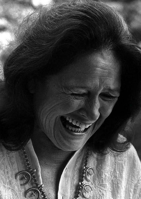 on the set of Annie HallColleen Dewhurst by Brian Hamill