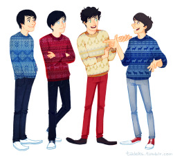 crabstickz Chris Kendall amazingphil danisnotonfire kickthepj phil lester dan howell PJ Liguori Fantastic Foursome i'm so terrible at drawing them but i tried and therefore no one can judge me? ??????? oh my god so many tags i'm going to die i feel like a ratchet