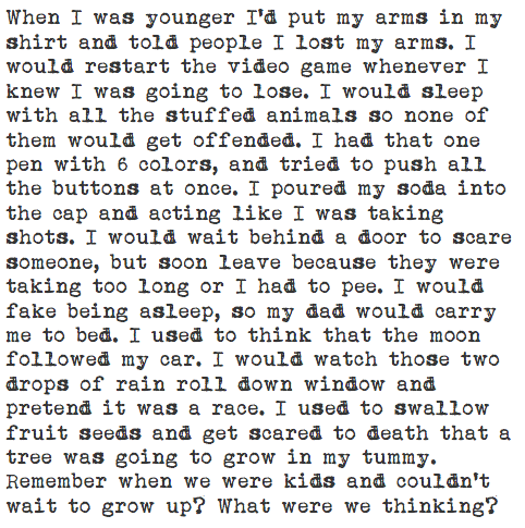 If only we could all be kids again