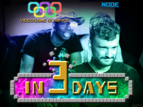 node-studios:  We're counting down to our first annual Video Game Olympics with Smosh Games. ARE YOU?!?!  Guys! In 3 days! NODE Studios Vs Smosh Games in  the video game Olympics! That's me behind Nico ;)