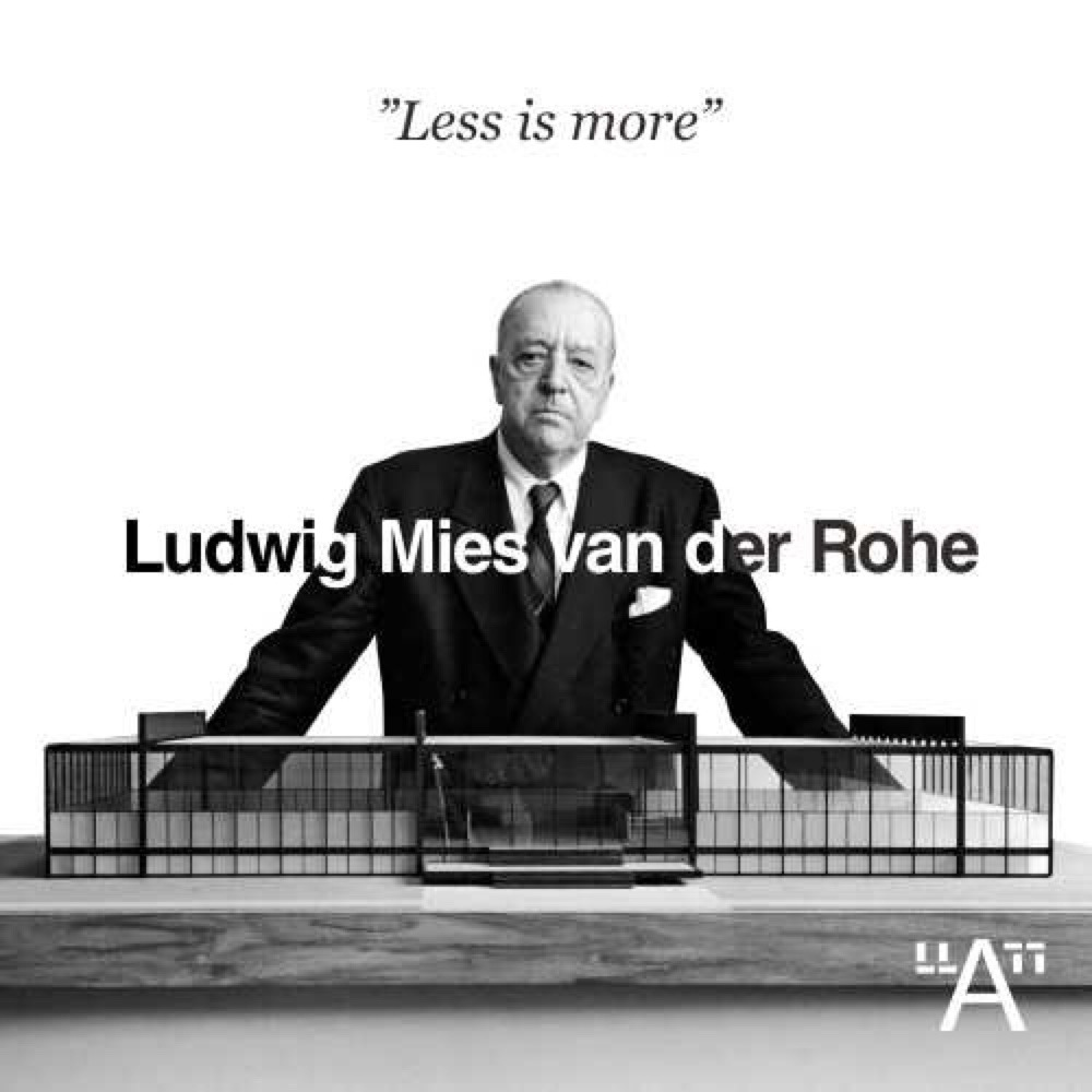bauhaus movement magazine ludwig mies van der rohe. Black Bedroom Furniture Sets. Home Design Ideas