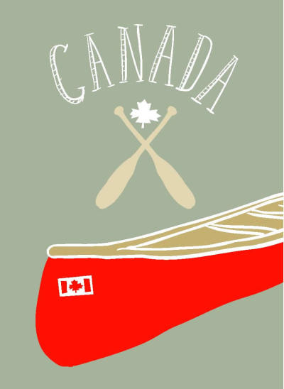 Canadian canoe and paddles.
