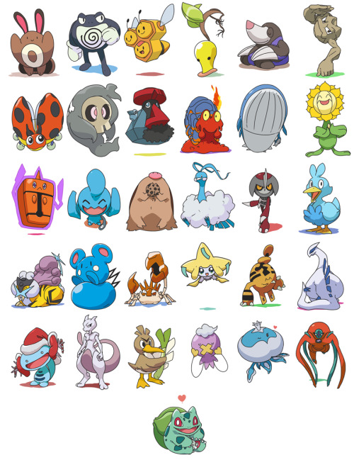Here's all of my daily Pokemon in one place! wow! (: