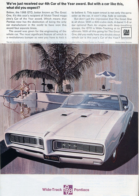 1968 Pontiac GTO Advertising - National Geographic February 1968 by SenseiAlan on Flickr.1968 Pontiac GTO Advertising - National Geographic February 1968