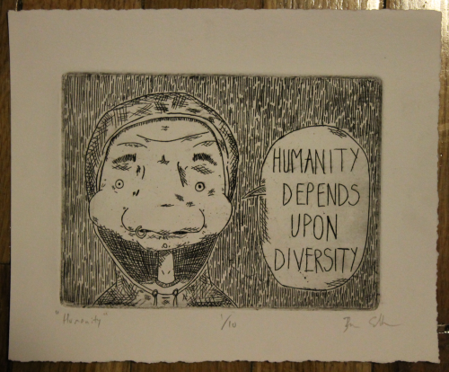 """Humanity"" Zinc plate/Line etching/Rives BFK"