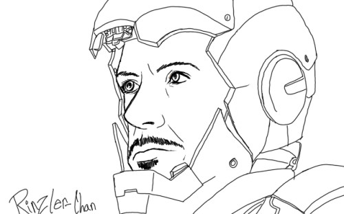 Tony Stark (Iron Man) This one took me 20 minutes just cause of the details.  I love drawing Tony/RDJ ^u^