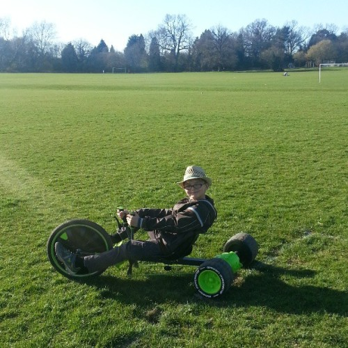 A lil bit of sun & the #greenmachine came out #son #trike #park