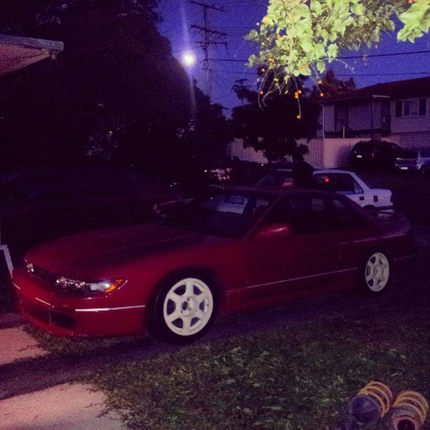 Put my coilovers in and wheels on! ~ Looking very 90's now, it will probably stay this way until it's manual and drift-able (^ ^)