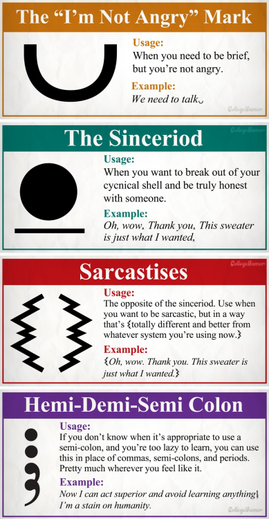 8 New Punctuation Marks We Desperately Need