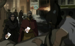 korrastyle:  *shows up 1 episode late with starbucks*