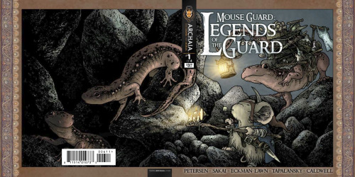 Full cover wrap to the upcoming MOUSE GUARD: LEGENDS OF THE GUARD VOL. 2 #1 by David Petersen, on sale soon!