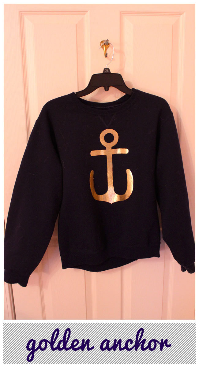 anchor sweatshirt DIY