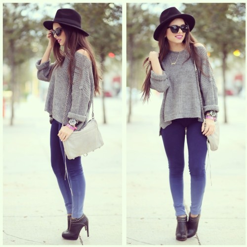 lookbookdotnu:  Ombre and gray!! (by Daniela Ramirez)