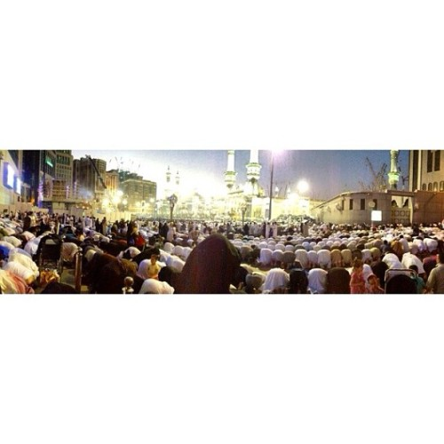 Maghrib. All the way from inside the mosque to the streets.