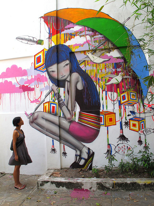 laughingsquid:  The Globetrotting Street Art of Julien Malland