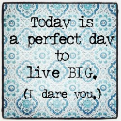 #qotd Quote of the Day. Part 3 of 3. Live big or go home. Make today awesome. I triple dog dare you. Happy Monday my loves! May your day be merry and bright, and awesome as shit. xo Low (at on the road)