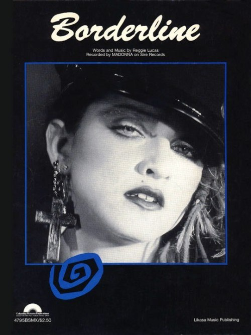 #Madonna Borderline Sheet Music Cover 1984